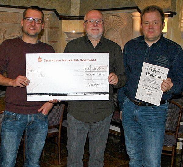 Spendenübergabe Förderverein Handball Walldürn